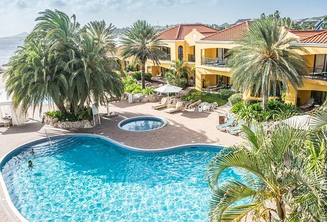 Luxe resort paradijs zwembad zonvakantie